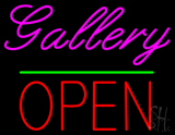 Gallery Block Open Green Line LED Neon Sign