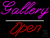Gallery Open White Line LED Neon Sign