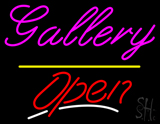 Gallery Open Yellow Line LED Neon Sign