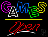 Games Open Yellow Line LED Neon Sign