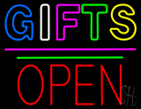 Gifts Block Open Pink Line LED Neon Sign