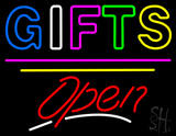 Gifts Block Open Yellow Line LED Neon Sign