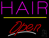 Pink Hair Open Yellow Line LED Neon Sign