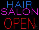 Hair Salon Block Open LED Neon Sign