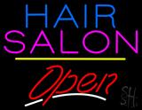 Hair Salon Open Yellow Line LED Neon Sign