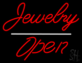 Jewelry Cursive Open White Line LED Neon Sign