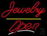 Jewelry Yellow Line Open Neon Sign