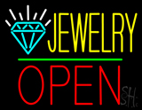 Jewelry Logo Open Green Line LED Neon Sign
