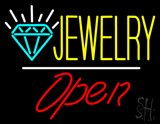 Jewelry Logo White Line Open LED Neon Sign