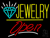 Jewelry Logo Open Yellow Line LED Neon Sign