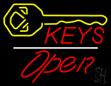 Keys Logo Open White Line LED Neon Sign