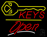 Keys Logo Open Yellow Line LED Neon Sign