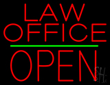 Law Office Block Open Green Line LED Neon Sign