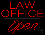 Law Office Open White Line LED Neon Sign