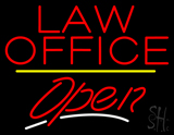 Law Office Open Yellow Line LED Neon Sign