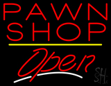 Pawn Shop Open Yellow Line LED Neon Sign