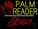 Palm Reader Logo Open White Line LED Neon Sign