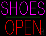 Shoes Open Block Green Line LED Neon Sign