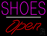 Shoes Open White Line LED Neon Sign