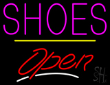 Shoes Open Yellow Line LED Neon Sign