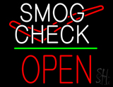 Smog Check Logo Open Block Green Line LED Neon Sign