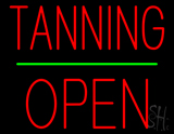 Tanning Block Open Green Line LED Neon Sign