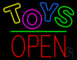Toys Block Open Green Line LED Neon Sign
