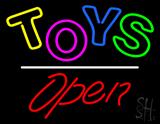Toys Open White Line LED Neon Sign