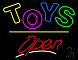 Toys Open Yellow Line LED Neon Sign
