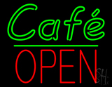 Cafe Block Open Green Line LED Neon Sign