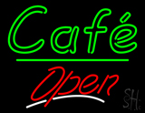 Cafe Open Green Line LED Neon Sign
