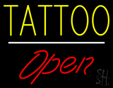Tattoo Open White Line LED Neon Sign