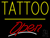 Tattoo Open Yellow Line LED Neon Sign