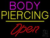Body Piercing Open White Line LED Neon Sign