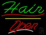 Green Hair Open Yellow Line LED Neon Sign