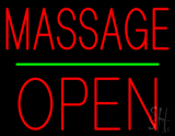 Red Massage Block Open LED Neon Sign