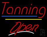 Tanning Open Yellow Line LED Neon Sign