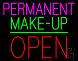 Permanent Make-up Block Open Green Line LED Neon Sign