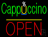 Cappuccino Block Open Yellow Line LED Neon Sign