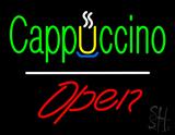 Cappuccino White Line Open LED Neon Sign