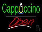 Cappuccino Open White Line LED Neon Sign