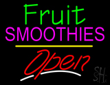 Fruit Smoothies Open Yellow Line LED Neon Sign