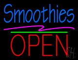 Smoothies Block Open Green Line LED Neon Sign