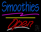 Blue Smoothies Open Yellow Line LED Neon Sign