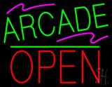 Arcade Block Open Green Line LED Neon Sign