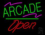 Arcade Open White Line LED Neon Sign