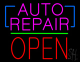 Auto Repair Open Block Green Line LED Neon Sign