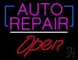 Auto Repair Open White Line LED Neon Sign