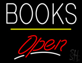 Books Open Yellow Line LED Neon Sign