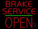 Brake Service Block Open Green Line LED Neon Sign